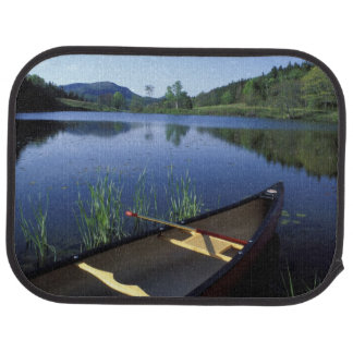 A canoe rests on the shore of Little Long Pond Floor Mat