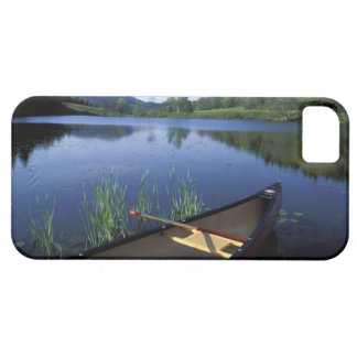 A canoe rests on the shore of Little Long Pond iPhone 5 Cases