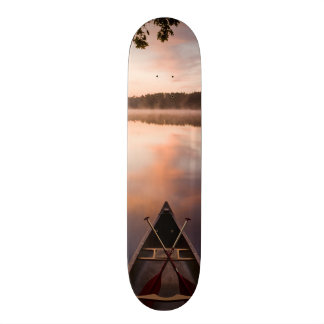 A canoe rests on the shore of Pawtuckaway Lake 21.3 Cm Mini Skateboard Deck