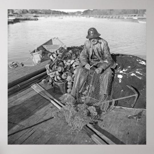 A Cape Ann Fisherman, Gloucester 1905 Poster