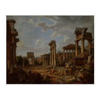 A Capriccio of the Roman Forum by Giovanni Paolo Postcard