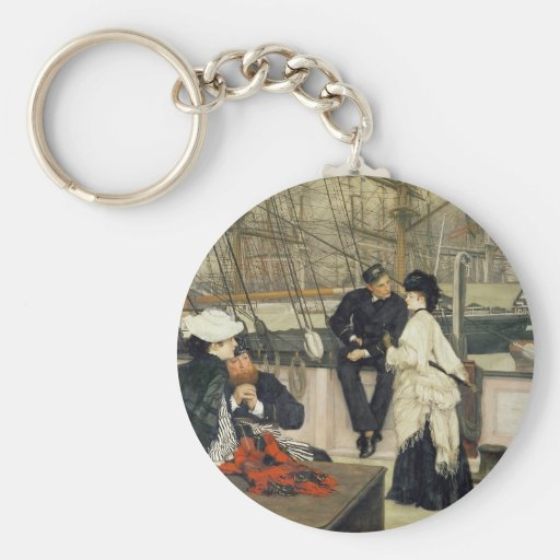 A Captain and First Mate Entertaining the Ladies Key Chains