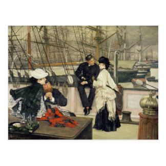 A Captain and First Mate Entertaining the Ladies Postcard