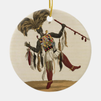 A Captain in his War Dress, from 'Mission from Cap Round Ceramic Decoration