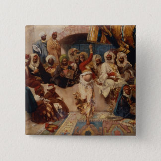 A Captive Audience, 1883 (oil on canvas) 15 Cm Square Badge