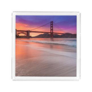 A capture of San Francisco's Golden Gate Bridge Acrylic Tray