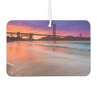 A capture of San Francisco's Golden Gate Bridge Car Air Freshener
