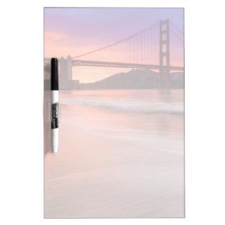 A capture of San Francisco's Golden Gate Bridge Dry Erase Board