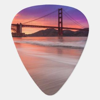 A capture of San Francisco's Golden Gate Bridge Guitar Pick