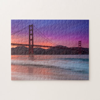A capture of San Francisco's Golden Gate Bridge Jigsaw Puzzle