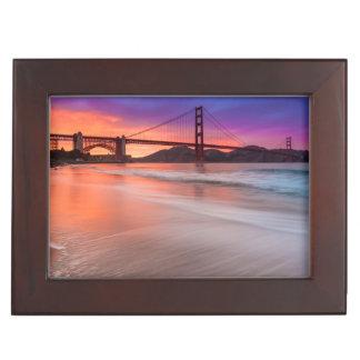 A capture of San Francisco's Golden Gate Bridge Keepsake Box
