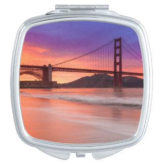 A capture of San Francisco's Golden Gate Bridge Makeup Mirror
