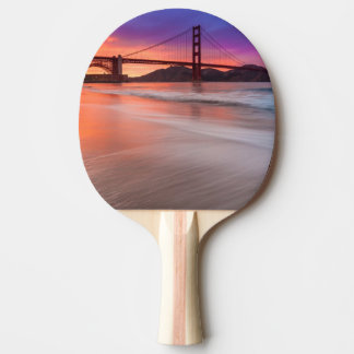 A capture of San Francisco's Golden Gate Bridge Ping Pong Paddle