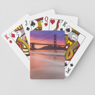 A capture of San Francisco's Golden Gate Bridge Playing Cards