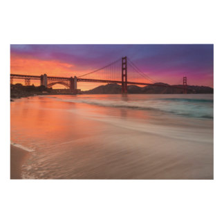 A capture of San Francisco's Golden Gate Bridge Wood Print