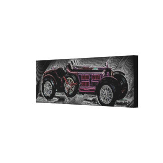 A car from Bella Italia - digital Work Canvas Print