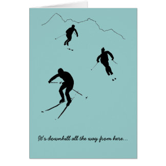 A card for a skier