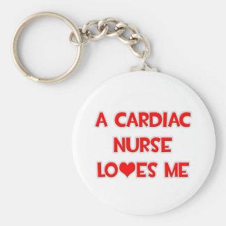 A Cardiac Nurse Loves Me Key Chains