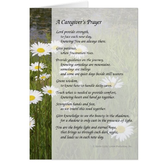 A Caregiver's Prayer - Greeting Card