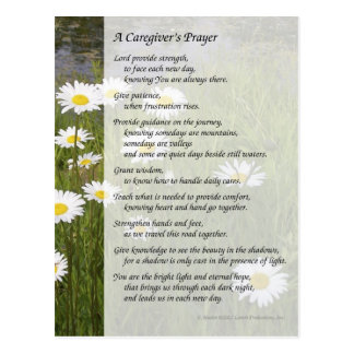 A Caregiver's Prayer - Postcard
