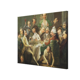 A Caricature Group, c.1776 (oil on canvas) Canvas Print