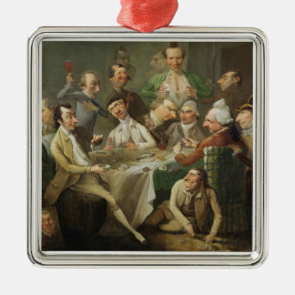 A Caricature Group, c.1776 (oil on canvas) Christmas Ornament