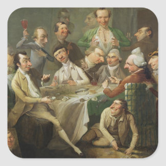 A Caricature Group, c.1776 (oil on canvas) Sticker