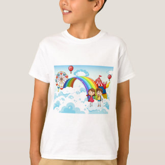 A carnival in the sky with a rainbow T-Shirt