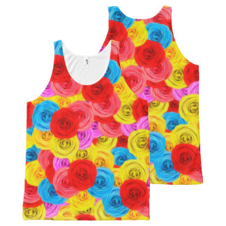 A Carpet of Roses All-Over Print Tank Top