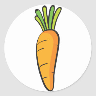 a carrot classic round sticker