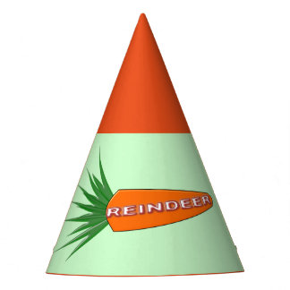 A Carrot for Christmas Reindeer Party Hat
