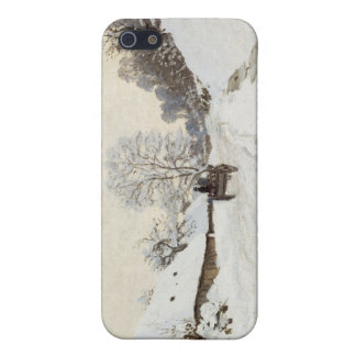 A Cart on the Snowy Road at Honfleur, Claude Monet Case For iPhone 5