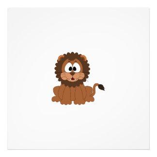 A cartoon brown smiling Drawn Lion Art Photo
