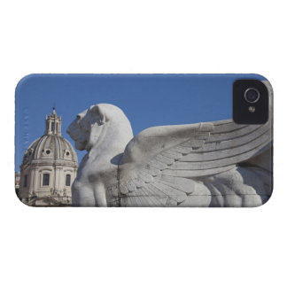 A carved winged lion at the front of the Victor iPhone 4 Case-Mate Case