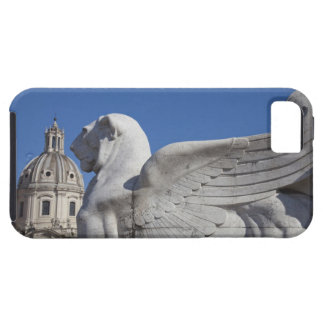 A carved winged lion at the front of the Victor iPhone 5 Case