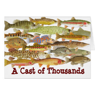 A Cast of Thousands- Humorous Fish Card