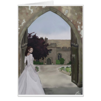 A castle wedding greeting card. greeting card