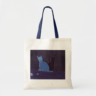 A CAT AND HER SHADOW BUDGET TOTE BAG