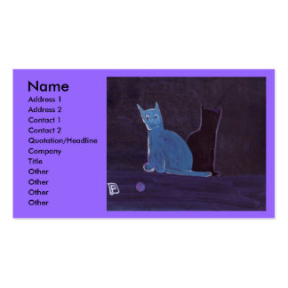 A CAT AND HER SHADOW BUSINESS CARD TEMPLATES