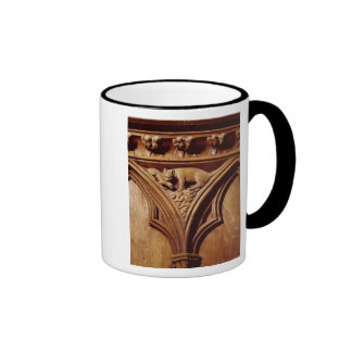 A cat and mouse, from a choir stall coffee mug