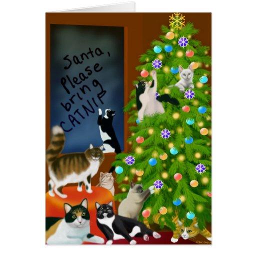 A Cat Family Christmas Card