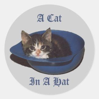 A Cat in a Hat Sticker
