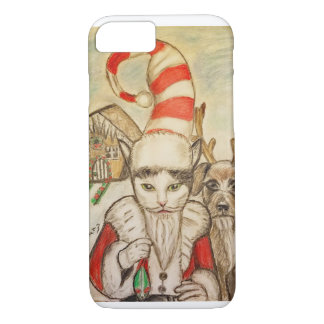 A Cat in a Santa Hat iPhone 8/7 Case