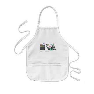 A Cat Is Playing His Green Guitar Apron
