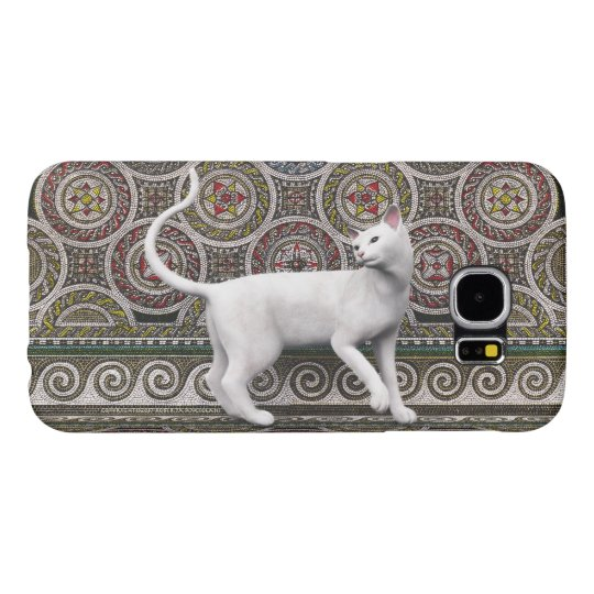 A cat on the mosaic samsung galaxy s6