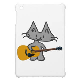 A Cat Playing His Acoustic Guitar iPad Mini Cover