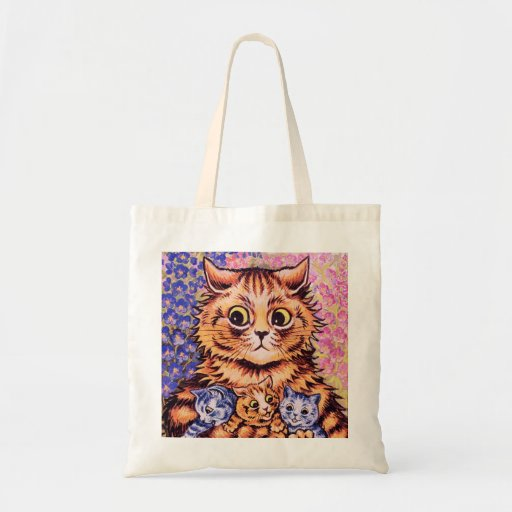 A Cat with her Kittens by Louis Wain Bag