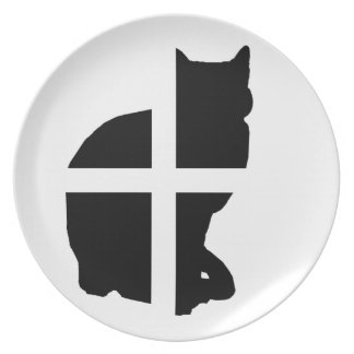 A Cat with the Cornish Flag Party Plates