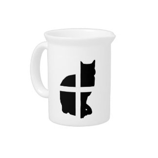 A Cat with the Cornish Flag Pitcher
