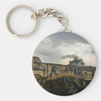 A cathedral in ruins (Guatemala) Key Chain
